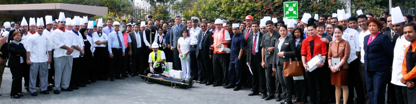 Exercises in Fire Protection to The Gulf Hotel Convention & Spa Team