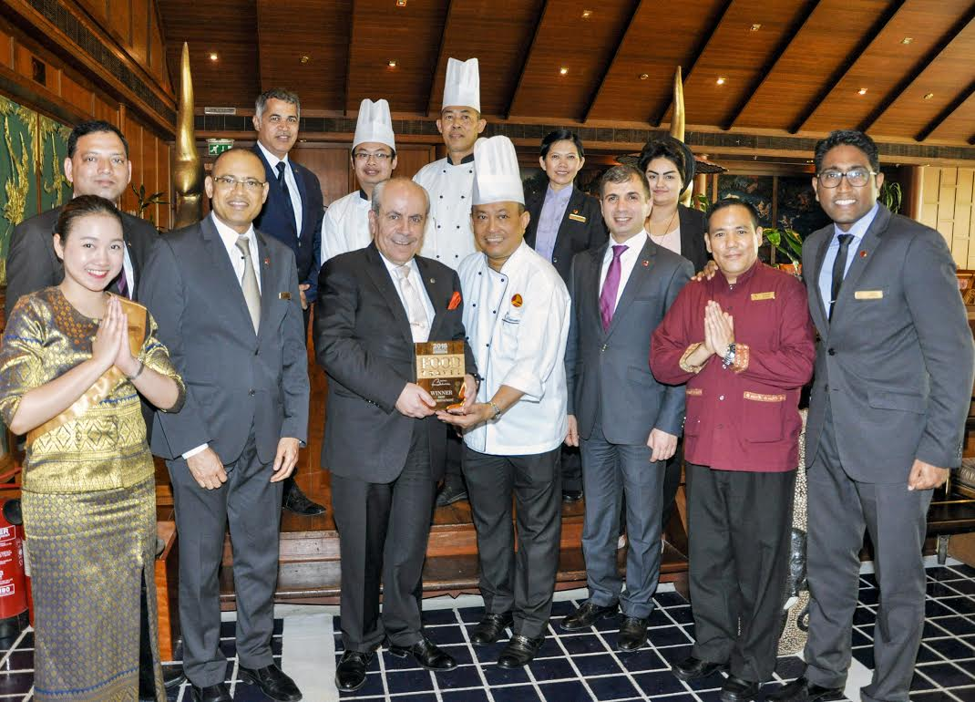 Royal Thai Team with General Manager Rahim Abu Omar, Chef Tawachi, F&B Manager Sunuj Deen, Executive Assistant Manager Charbel Hanna
